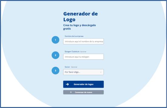 Generador de Logo ingrese el nombre de la empresa