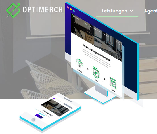 two devices with Optimerch screens