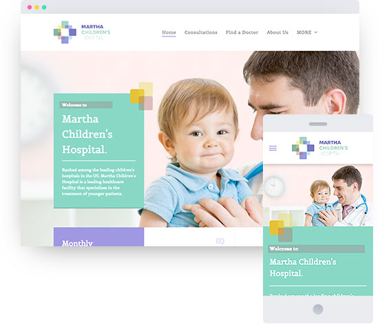 MyWebsite template for medical practice