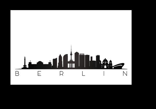 Silhouette der Berliner Sehenswürdigkeiten