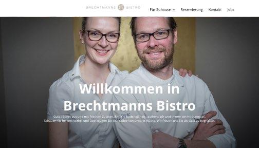 Brechtmanns Bistro Abholung und Lieferservice auf eigener Website