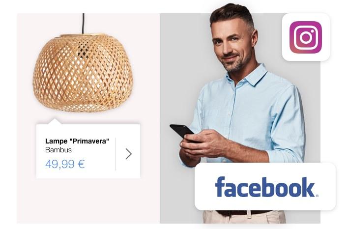 Auf Facebook und Instagram verkaufen