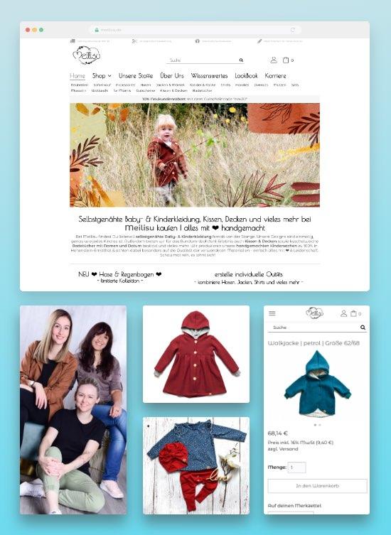 Meilisu Onlineshop fuer handgemachte Kindermode