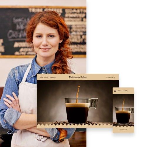 Cafe-Website erstellen mit MyWebsite